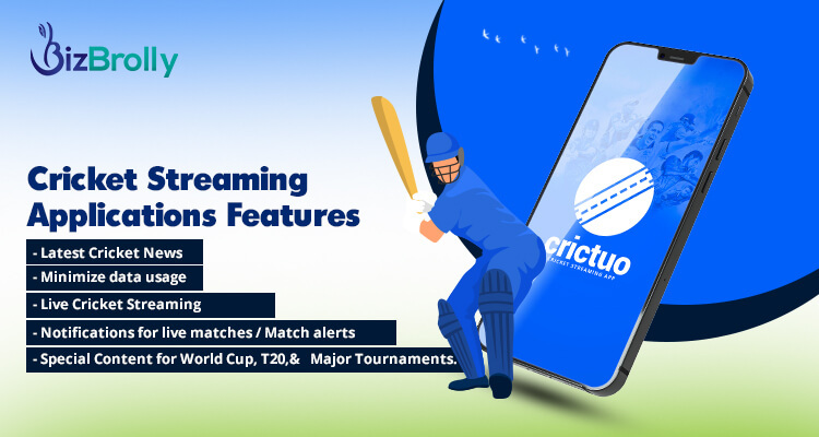 cricket streaming application features