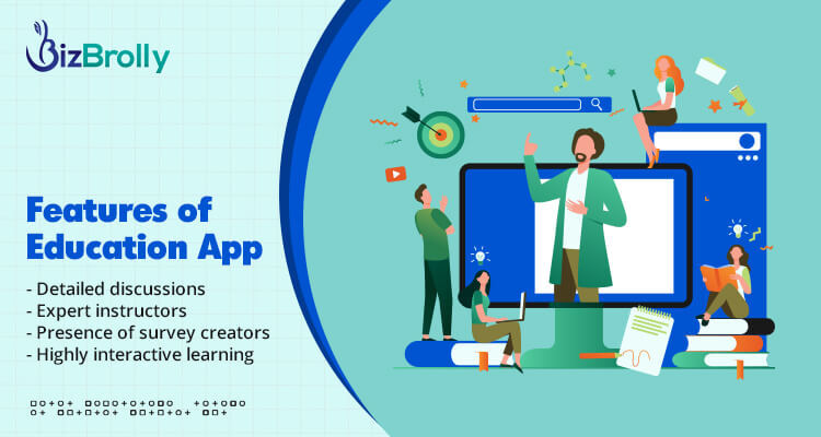features of educational app